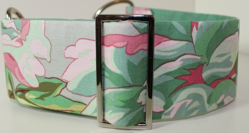 50mm flower fabric dog collar