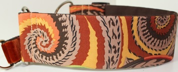 Kaffe Fassett dog collar