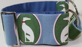 Luxury whippet martingale collar