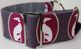 Cameo greyhound dog collar
