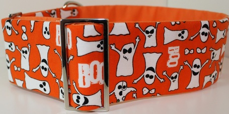 Halloween ghost dog collar